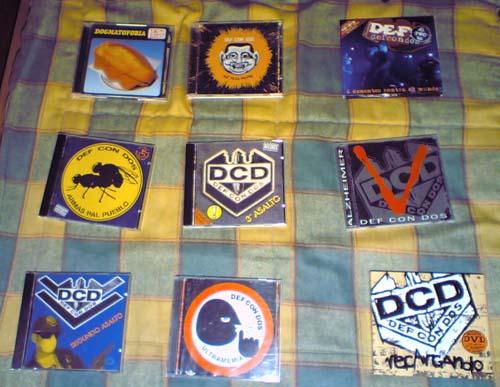 Mis discos de Def Con Dos (Haz clic para ampliar)